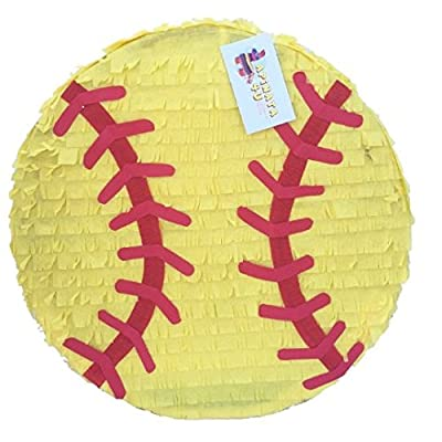 "APINATA4U 2-D Yellow Softball Pinata 16"": Toys & Games"