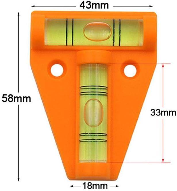 Stative Phrat Mini Wasserwaage T-Type-Wasserwaagenmessung 2-Wege-Wasserwaage Kleine Messung Mehrzweck f/ür M/öbel Kameraausr/üstung