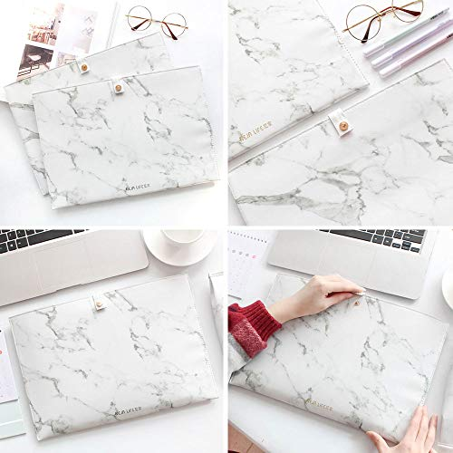 Luxury Marble File Folder Document Resume Organizer Clipboard Portfolio A4 Letter Size Waterproof File Holder (Marble White) by ANTIMAX (Image #6)