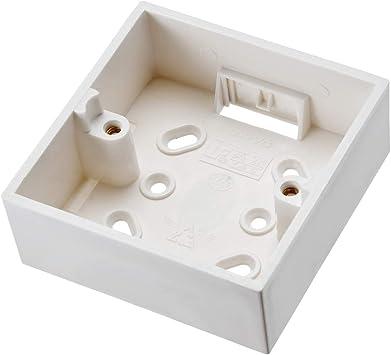 Sourcingmap - Caja de conexión para interruptor de pared, color blanco: Amazon.es: Bricolaje y herramientas