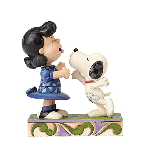 Peanuts by Jim Shore Lucy and Snoopy Stone Resin Figurine, 5