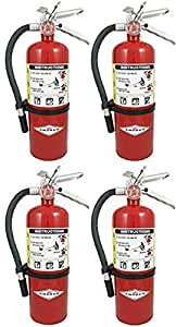Amerex SDDFAFA B500 ABC Dry Chemical Class A B C Fire Extinguisher, 5lb, 4 Pack