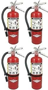 Amerex SDDFAFA B500 ABC Dry Chemical Class A B C Fire Extinguisher, 5lb, 4 Pack