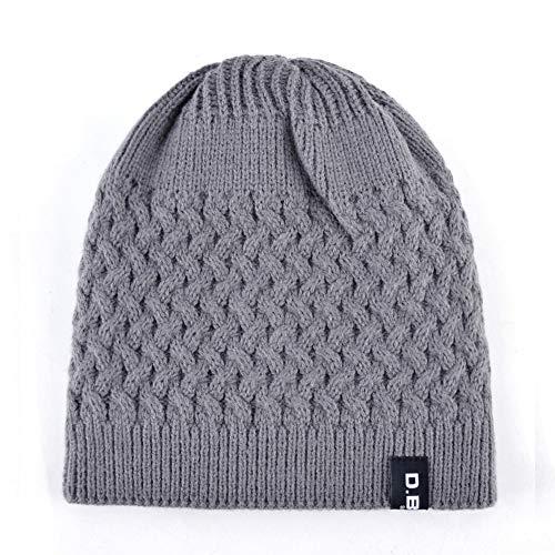 Amazon.com: HOKUGA Warm Men Beanie Caps teenager Winter Hats For Man Knitted Beanies Hat Mesh Gorra Bonnet Bone Caps Man and Women TMD30: Beauty