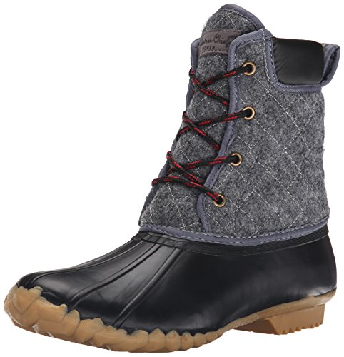 Western Chief Women's Fashion Duck Boot, Charcoal Quilted, 10 M US