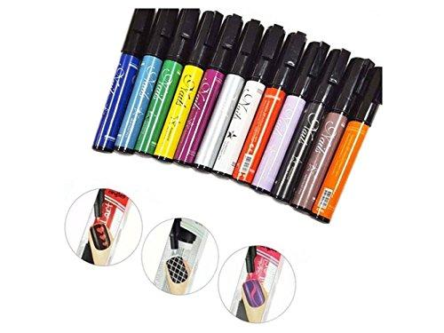 Yuchoi - Juego de 12 lápices de uñas para esmalte de uñas de gel UV, kit de herramientas de bricolaje