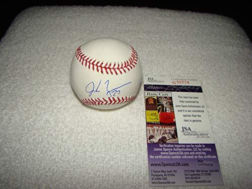 Jordan Zimmermann Hand Autographed Signed Oml Baseball - JSA Certified #N59774 Detroit Tigers - Signed MLB Baseball Memorabilia