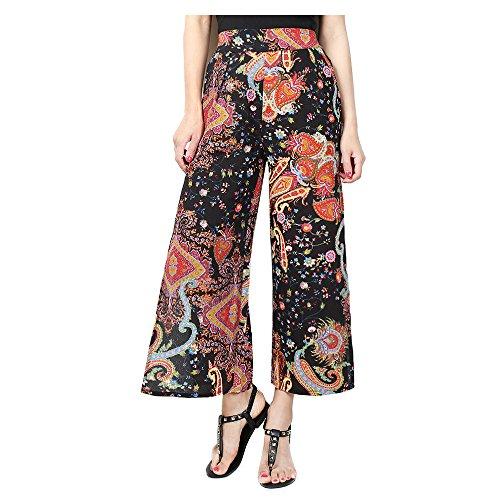 Pantalons Bootcut Femme Sexy en Marlne Ete Pantalon Haute Long Pantalon Mousseline Imprim Pantalon pantalon Noir Split Floral Taille vass Moderne Juleya BnqSdq