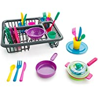 27-Piece Playkidz Super Durable Kids Play Dishes