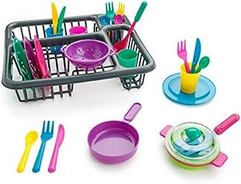 27-Piece Playkidz Super Durable Kids Play Dishes