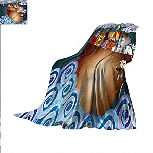 Amazon com: Religious Lightweight Blanket Ark on Dark Ocean
