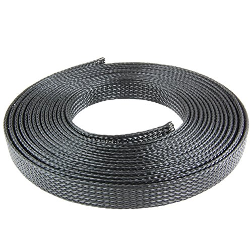 NTE, Expandable Braided Sleeving, Material: Flame Retardant Polyethylene Terephthalate (PET), Dimensions: 16.4'L X .75 diameters, Color: Black, Qty: 1 Roll (16.4 ft. /Roll)