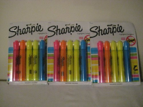 Sharpie Accent 5/Pack Assorted Tank Style Highlighters (3 Pack) by Sharpie
