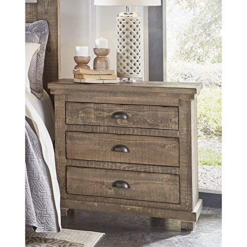 (Progressive Furniture P635-43 Willow Nightstand, Weathered Gray)