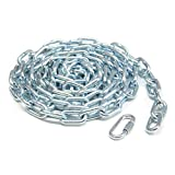"KingChain 699481 1/4"" x 10' Zinc Plated Grade 30 Proof Coil Chain"