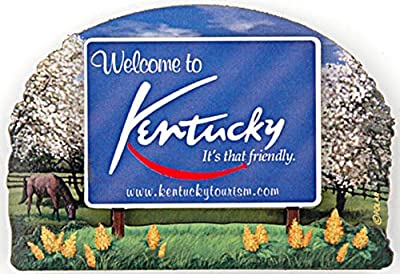 Magnet Wood Welcome Sign Kentucky