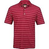 Greg Norman Protek Micro Pique Stripe Polo Mens - BERRY RED - XXL