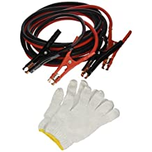 Majic 16 Feet Long, 4 Gauge 600 AMP Extra Heavy Duty Battery Booster Cable / Jumper Cable in Travel Bag and Safety Gloves
