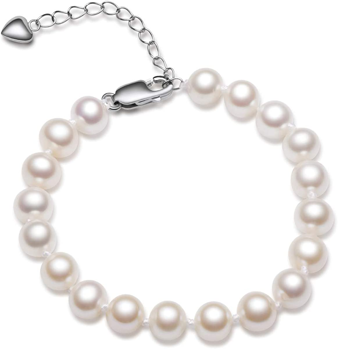 AAA Genuine Natural 6-7 mm WHITE FRESHWATER PEARL NECKLACE BRACELET Set