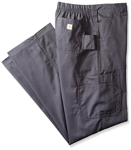 Carhartt Size Ripstop Men's Multi-Cargo Scrub Pant Tall, Dark Pewter, - Ripstop Pants