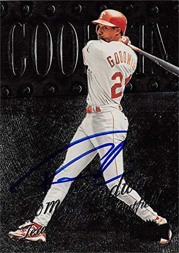 Tom Goodwin autographed Baseball Card (Texas Rangers) 1999 Skybox Metal Universe #227 - MLB Autographed Baseball Cards ()