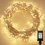 200 LED Indoor String Light with Remote and Timer on 69ft Clear String (8 Modes, Dimmable, Low...