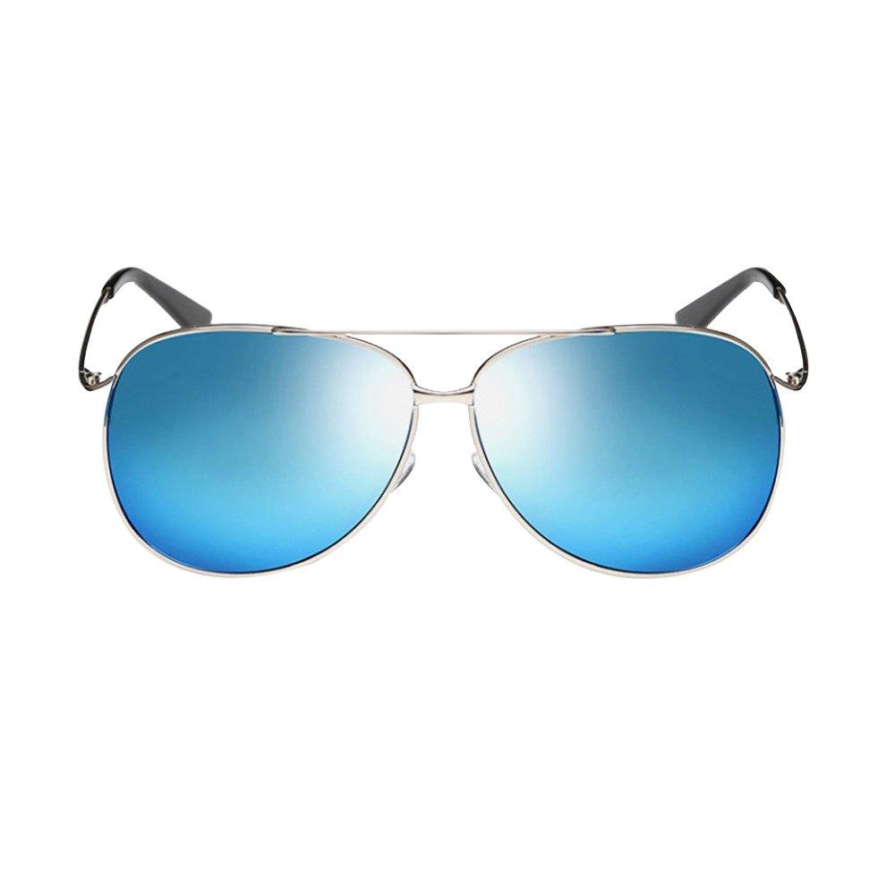 Driving Polarized Sunglasses for Men Women Frog Mirror Glasses 100UV Protection (ice blue)