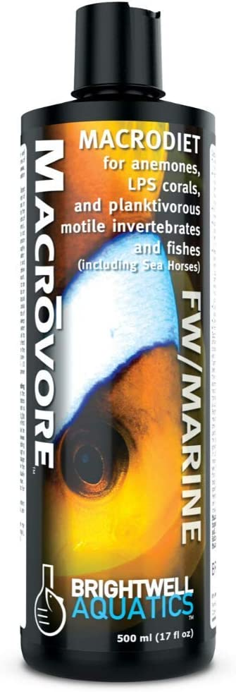 Brightwell Aquatics Macrovore - Macrodiet Liquid Food for Anemones, Corals, Invertebrates & Fish