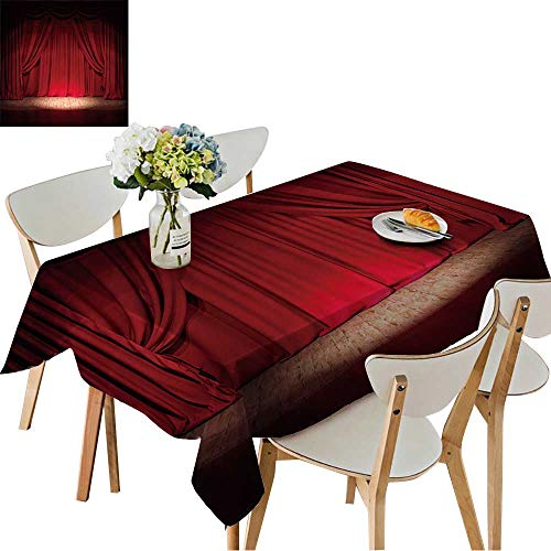 UHOO2018 Square/Rectangle Polyester Cloth Fabric Cover Theater Stage red Curtains Show Spotlight Table Top Cover,54 x120inch.