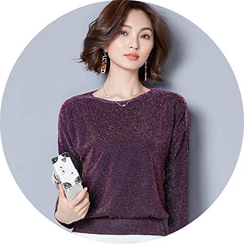 2019 Fashion Long Sleeve Women Blouse Shirt Loose Plus Size lace Blouse,Bordeaux,L ()