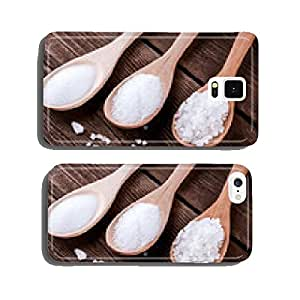 sea salt different grinding in a wooden spoons cell phone cover case iPhone6 Plus