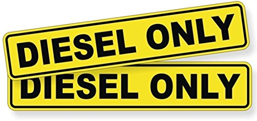 Greatest Costumes Ever (2-Pcs Greatest Popular Diesel Only Car Stickers Sign Windows Decor Gas Decals Waterproof Size 1-1/4