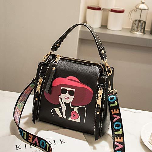 bag New Print Oblique Single Shoulder Fashion Transport Ladies 2018 Wide Portable Hundred a Bag Borsa C secchiello Ratbag Ribbon gtxXZwaqg