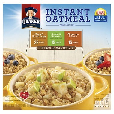 Quaker Instant Oatmeal Variety Pack (52 ct.) - Net Weight 78.8 (Dynamic Net)