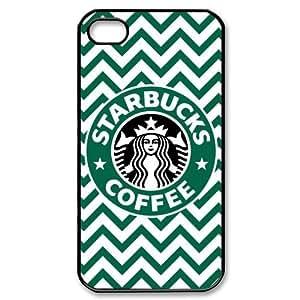 Starbucks Coffee Iphone 4 4S Chevron Pattern Hard Case Cover