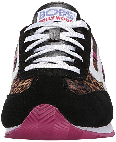 white Black Skechers Bobs Fashion Sneaker Sunset pink De wWzBqATxFq