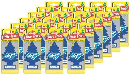 Little Trees Hanging Car and Home Air Freshener, Ocean Mist Scent (Pack of 24) by Car Freshner Car-Freshner Corp