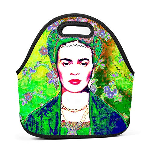 Fr-ida ka-hlo Lunch Tote Tote with Zipper Lunch Bags/Lunch Boxes
