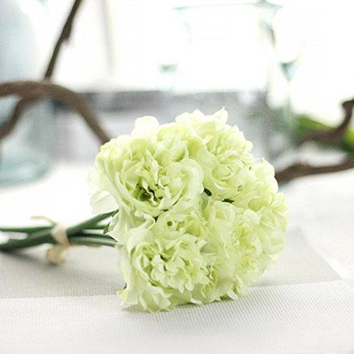 YJYdada Artificial Silk Fake Flowers Peony Floral Wedding Bouquet Bridal Hydrangea Decor (Hydrangea Wedding Decorations)