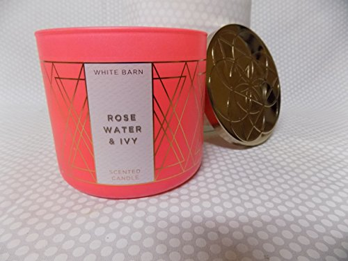 Bw White Barn Rose Water   Ivy 3 Wick Scented Candle 14 5 Oz