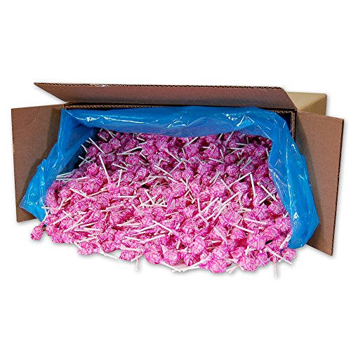 Dum Dums Color Party Lollipops, Hot Pink, Watermelon Flavor, Bulk 30lb Box, 2,340 (Dum Dums Com)