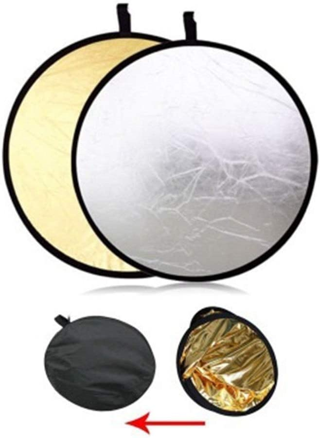 32 Round Photography Situation 2 In 1 Portable Round 32Inch//80cm Multi Camera Lighting Reflector Diffuser Kit And Carrying Case For Photpgraphy gold Photography Light Reflector Outdoor Lighting