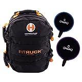 Hyperwear Fit Ruck Convertible Sandbag Training Ruck Sack/Sand Bell Package, Black/Orange, 2400 cu. in./20 lb by Hyperwear
