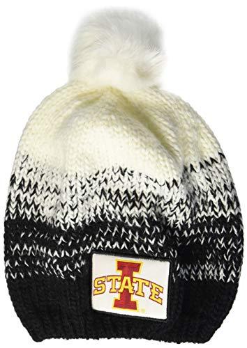 Ouray Sportswear NCAA Iowa State Cyclones Ascent Beanie, One Size, Black/White