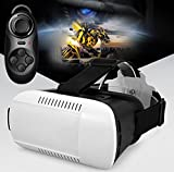 Findbest  VR Virtual Reality Headset 3D Video Movie Game Glasses For 3.5~6 inch Smartphones iPhone 6 plus Samsung Galaxy S6 Edge+, adjustable Focal Distance Pupil Distance, with Bluetooth Controller