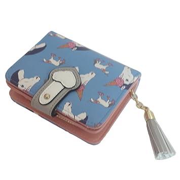 Fashion Ladies Unicorn Print Long Coin Purse Womens Wallet Card Holder New UK