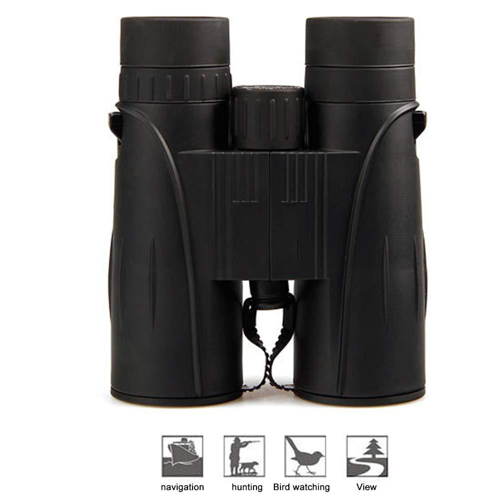 LJJY Jumelles Adulte, Jumelles Compact HD Professional à Vision Nocturne de 8 × 42 BAK4 Prism FMC Objectif Télescope Optique Pliant Durable et Anti-buée  -