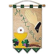First Communion Banner Kit - 9 x 12 - Praying Hands - Green