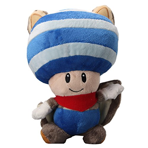 UiUoU Super Mario Bros. Flying Squirrel Toad Plush (Cheap Mario Plushies)