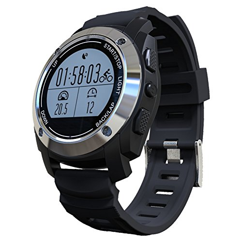 2017 S928 Bluetooth GPS Outdoor Sports Smart Watch IP66 Life Waterproof with Heart Rate Monitor Pressure for Android 4.3 IOS 8.0 (Silver)